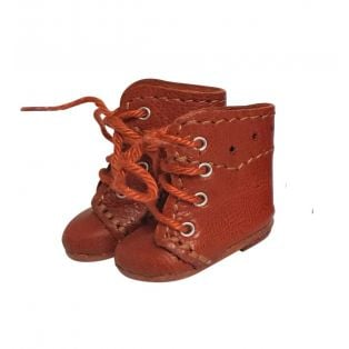 Wagner Doll Shoes Group B Style Meg Boots - WALNUT