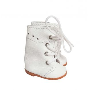 Wagner Doll Shoes Group B Style Meg Boots - WHITE