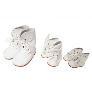Wagner Doll Shoes Group C Style Meg Boots - WHITE