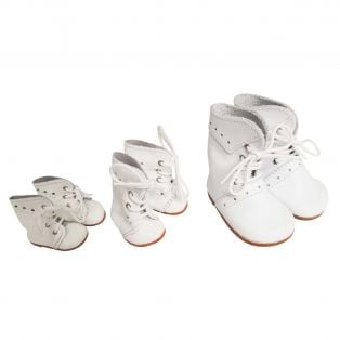 Wagner Doll Shoes Group 1 Style Meg Boots - WHITE