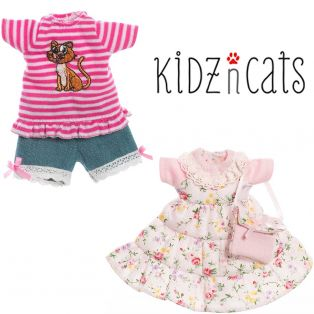 Kidz 'n' Cats MINI Clothing Set 2 Madeleine Dress and Jean Shorts Set
