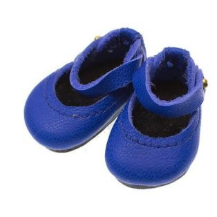 Boneka Mary Jane Leather Shoes 35mm x 20mm Royal Blue