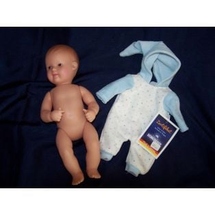 Schildkrot My First Baby Girl or Boy Doll In Blue Nicky Velour 28cm alternate image