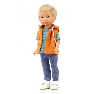 Vestida de Azul Carlota's Friends Boy Doll Nylo In Orange Hoodie 28cm