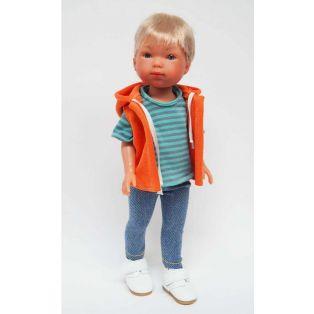 Vestida de Azul Carlota's Friends Boy Doll Nylo In Orange Hoodie 28cm  alternate image