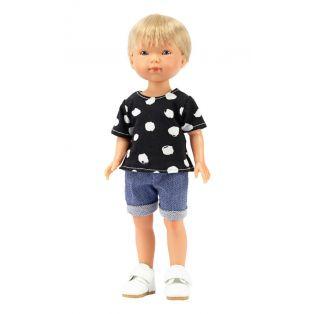 Vestida de Azul Carlota's Friends Boy Doll Nylo In Denim Shorts 28cm