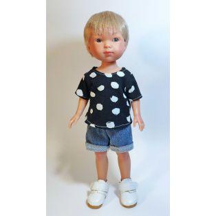 Vestida de Azul Carlota's Friends Boy Doll Nylo In Denim Shorts 28cm  alternate image
