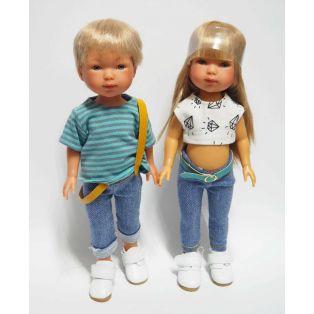 Vestida de Azul Carlota's Friends Boy Doll Nylo In Jeans & White Shoes 28cm  alternate image