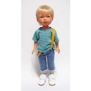 Vestida de Azul Carlota's Friends Boy Doll Nylo In Jeans & White Shoes 28cm