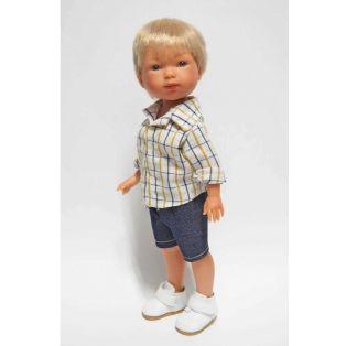 Vestida de Azul Carlota's Friends Boy Doll Nylo In Shorts & Shirt, 28cm