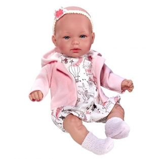 Vestida de Azul Baby Girl Doll Olivia Soft Body 28cm