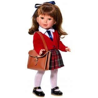 Vestida de Azul Paulina 33cm Brunette Schoolgirl Doll