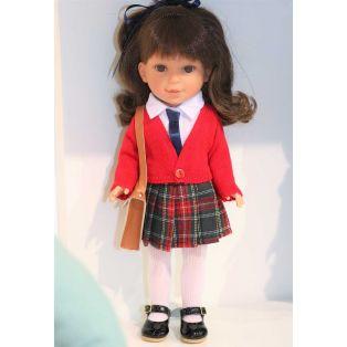 Vestida de Azul Paulina 33cm Brunette Schoolgirl Doll alternate image