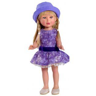 Vestida de Azul Paulina 33cm Blonde Doll In Purple