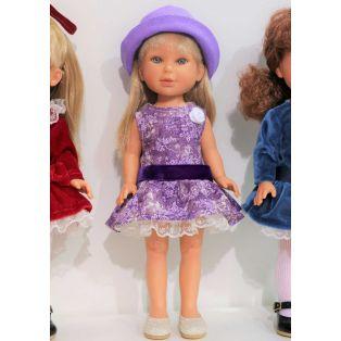 Vestida de Azul Paulina 33cm Blonde Doll In Purple alternate image