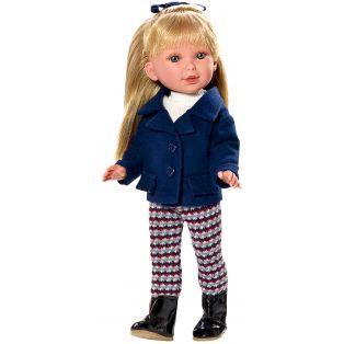 Vestida de Azul Paulina 33cm Blonde Doll In Blue Jacket