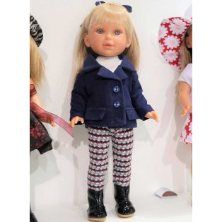 Vestida de Azul Paulina 33cm Blonde Doll In Blue Jacket alternate image