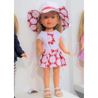 Vestida de Azul Paulina 33cm Blonde Doll In Sun Hat alternate image