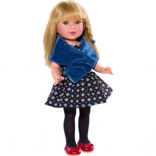 Vestida de Azul Paulina 33cm Blonde Doll In Black Dress