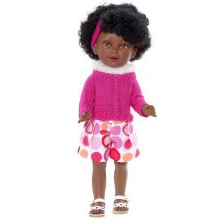Vestida de Azul Paulina 33cm African Doll in Shorts