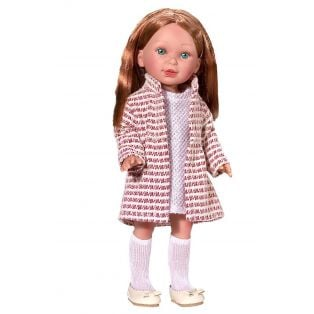 Vestida de Azul Redhead Paulina Doll in Coat & Dress, 33cm