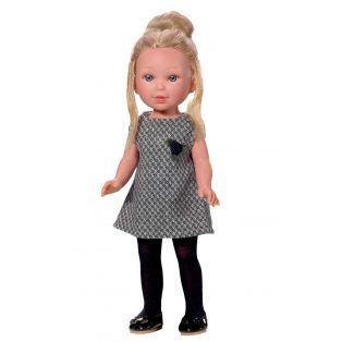 Vestida de Azul Paulina Blonde Doll In Black Dress, 33cm