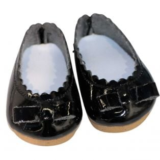Vestida de Azul CORAL DOLL Black Patent Shoes 45cm