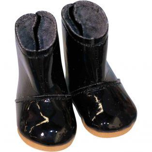 Vestida de Azul CORAL DOLL Black Patent Boots 45cm