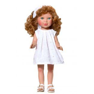 Vestida de Azul Redhead Paulina Doll In White Dress, 33cm