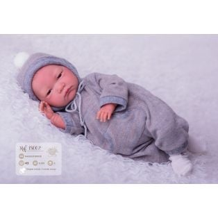 Llorens Reborn Baby Boy Doll in Grey 42cm
