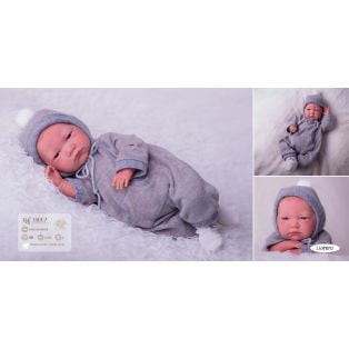 Llorens Reborn Baby Boy Doll in Grey 42cm alternate image