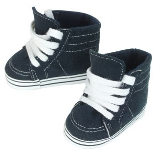 Sophia's Navy Faux Suede High Top Shoes 45-50cm
