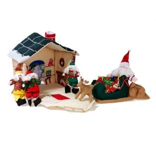 Oskar & Ellen's Santa's Workshop Play Set 11 Pieces