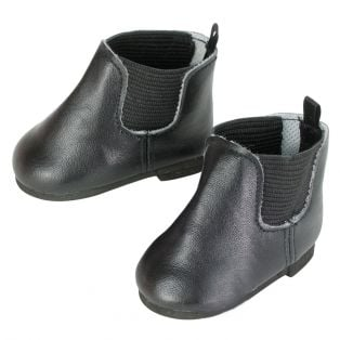 Sophia's Black Faux Leather Chelsea Boots 45-50cm