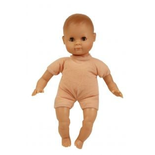 Schildkrot Schlummerle Sonny Black Baby Doll Brown Vinyl With Hair 32cm  alternate image