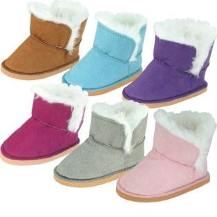 Sophia's Faux Suede Fur Boot For Dolls 45-50cm