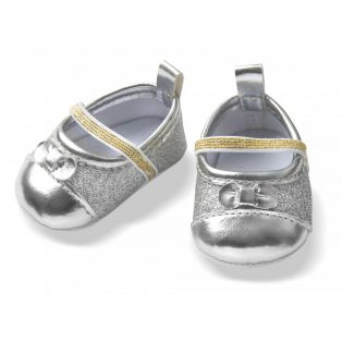 Heless Silver Glitter Ballerina Shoes 38-45cm