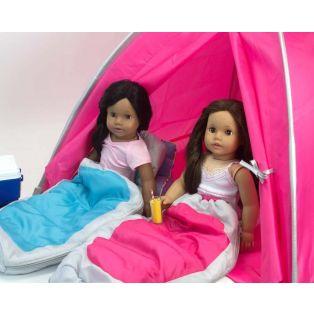 Sophia's Hooded Sleeping Bag 45-50cm Dolls - AQUA alternate image