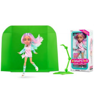 SnapStar Fashion Action Multi-Jointed App Doll LOLA With Green Screen, 25cm alternate image