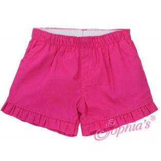 Sophia's Hot Pink Ruffle Shorts 40-50cm