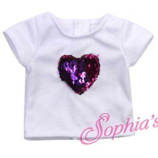 Sophia's Reversible Sequin Heart T Shirt