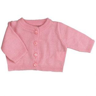 Sophia's Fine Gauge Pink Knit Sweater Cardigan 45-50cm alternate image