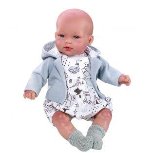 Vestida de Azul Baby Boy Doll Tommy Soft Body 28cm