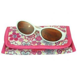 Sophia's White Plastic Sunglasses & Case 45-50cm