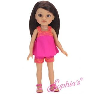 Sophia's 14 Inch Doll Shorts,Top and Sandals 3 Piece Set 36cm