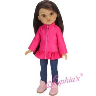 Sophia's 14 Inch Jacket, Jeggings & Fur Lined Boots 36cm