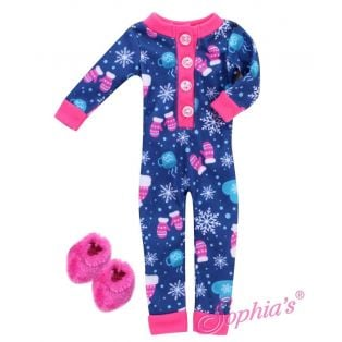 Sophia's 14 Inch Hot Cocoa Onesie PJ's & Slippers Set 36cm alternate image