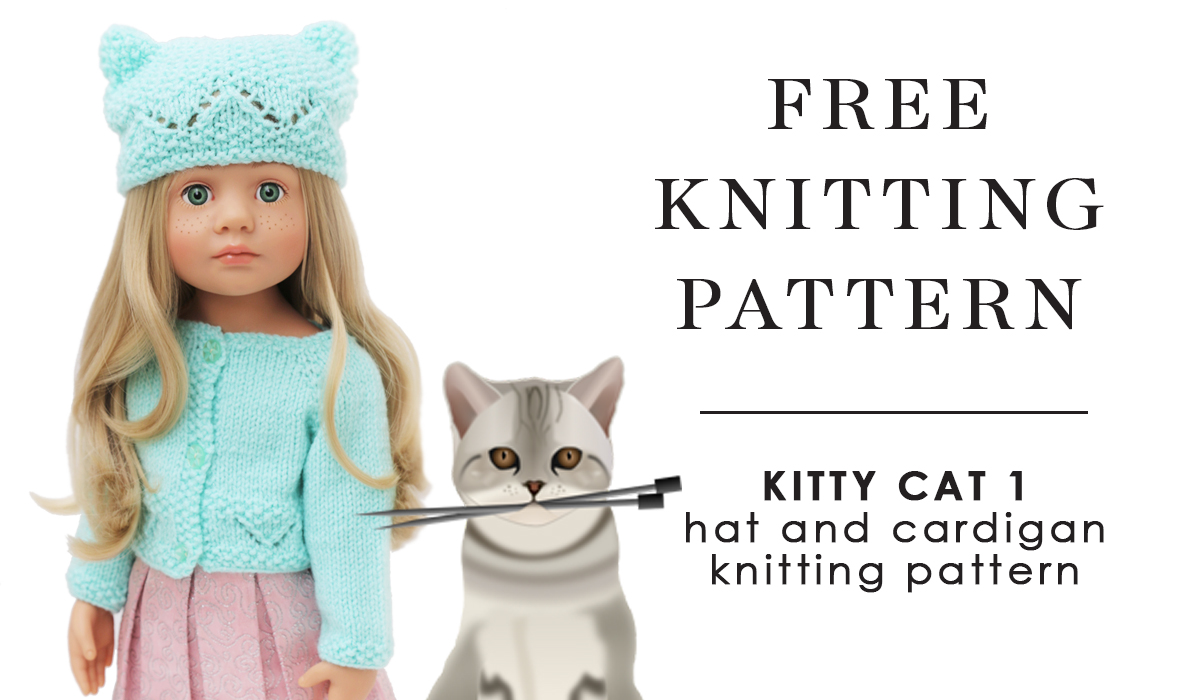 Free doll knitting pattern kitty cat gotz