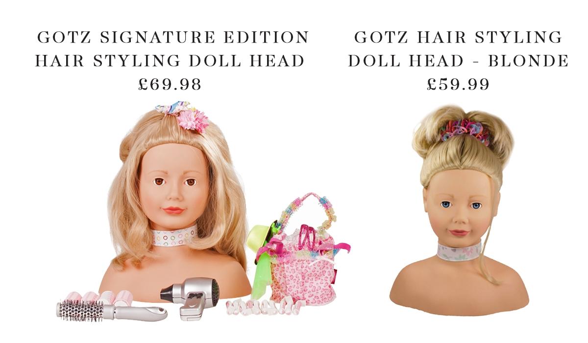 Gotz Styling Doll Heads