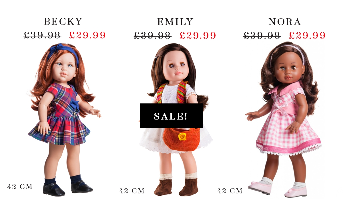 Paola Reina dolls in the sale